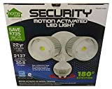 LED Outdoor Security Floodlight with Dusk to Dawn Light Sensor, Motion Activated Protection, Super Bright 2137 Lumens, White