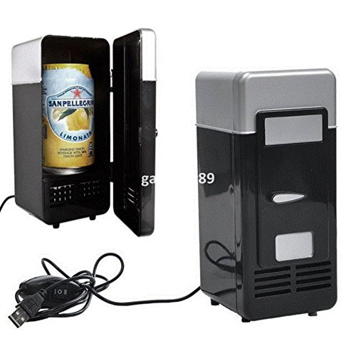 SL&BX Vintage mini usb fridge cooler beverage drink single door mini refrigerator with freezer-B by SL&BX