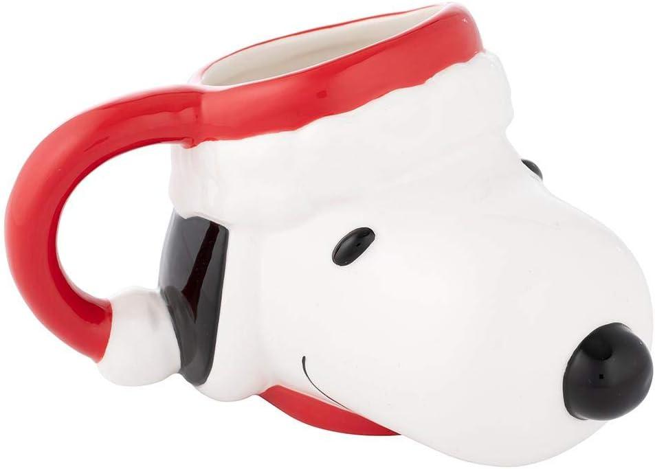 Snoopy and Woodstock Christmas Present Santa Hat Peanuts Holiday Coffee Mug