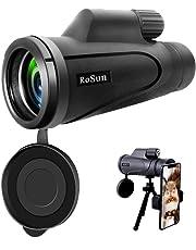 Télescope monoculaire, portée monoculaire 16X50 Haute Puissance Prism avec Adaptateur pour Smartphone, étanche pour l'observation des Oiseaux, la Chasse, la randonnée