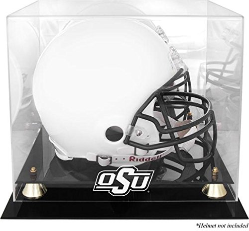 Oklahoma State University Players (Oklahoma State Cowboys Golden Classic Logo Helmet Display Case with Mirror Back)