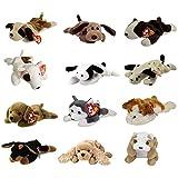 TY Beanie Babies – DOGS #1 (Set of 12)(Bernie, Bones, Fetch, Nanook, Spot, Spunky +6)(7.5-9 inch) For Sale