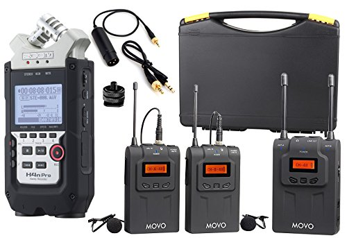 Zoom H4n PRO 4-Channel Handy Recorder Bundle with Movo UH...