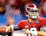 AJ McCarron Autographed/Signed Alabama Crimson Tide 8x10 NCAA Photo - Close Up Red Jersey