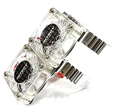 Integy RC Hobby C23320SILVER Type II Super Motor Heatsink+Twin Cooling Fan 540/550