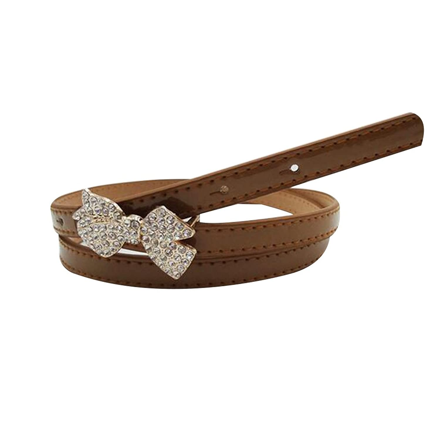 Sitong women's diamond bow leather belt(8 colors)