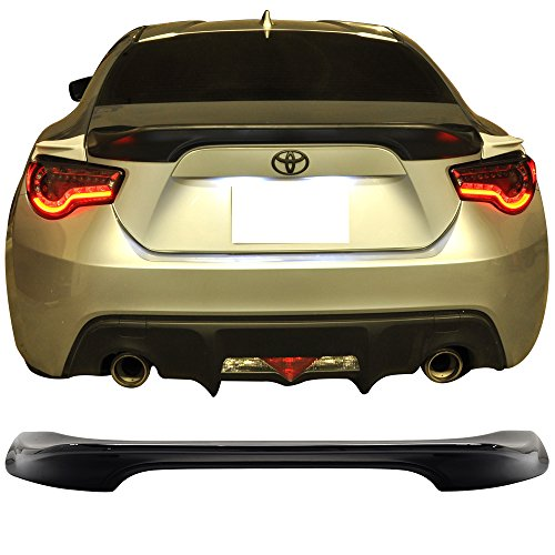 Pre-painted Trunk Spoiler Fits 2013-2019 Scion FRS Subaru BRZ | ABS Painted Raven Black #D4S Trunk Boot Lip Spoiler Wing Deck Lid Other Color Available By IKON MOTORSPORTS