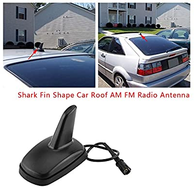Fit for VW Audi Seat Skoda Car Roof Radio Antenna Shark Fin Shaped Sports Style Aerial: Automotive
