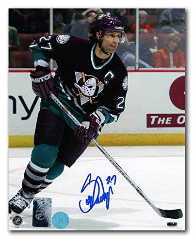 (AJ Sports World Scott Niedermayer Anaheim Mighty Ducks Autographed Retro Jersey 8x10)
