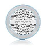 Braven BMRAUSW Mira Portable Wireless Bluetooth Speaker [12 Hours][Waterproof] Built-In 1200 mAh Power Bank Charger - Light Blue