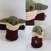 Hand Crochet Baby Green Alien - Baby Yoda Inspired
