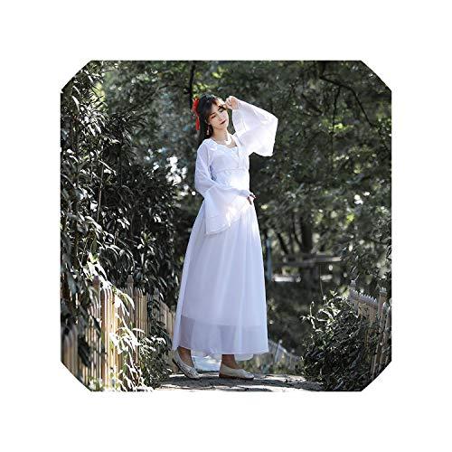 Woman Hanfu Retro Folk Dance Performance Costumes