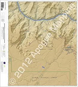 Topographic Map Grand Canyon.Grand Canyon Arizona 7 5 Minute Topographic Map Waterproof Paper