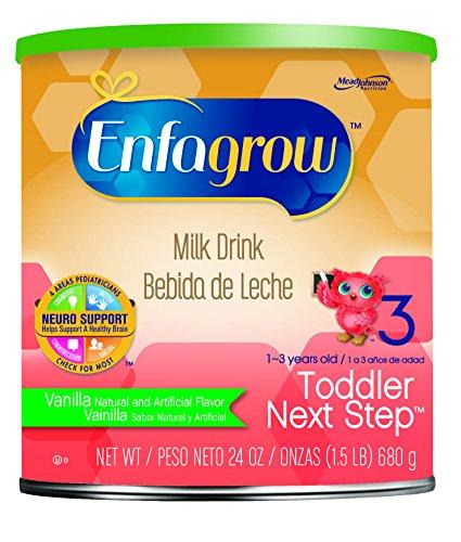 Enfagrow Toddler Next Step Vanilla Milk Drink - 24 oz Powder Can (Pack of 3) -