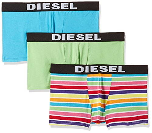 - Diesel Men's Shawn Three Pack Rainbow Stripe, Green, L