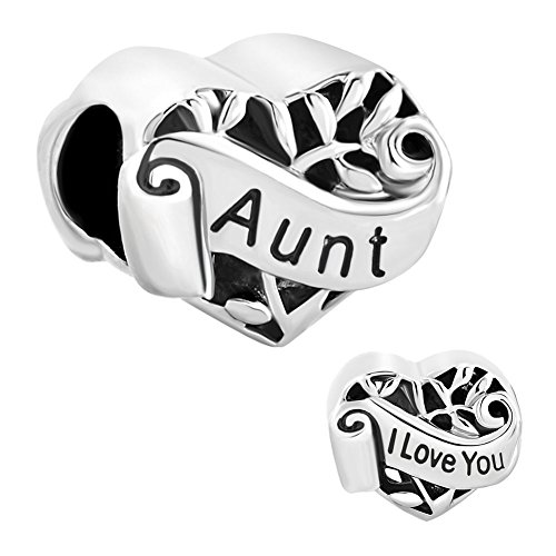 Third Time Charm Heart I Love You Aunt Charm Family Tree Of Life Beads For Bracelets