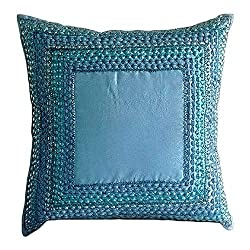 Sequin Embellished Silk Euro Pillow Covers