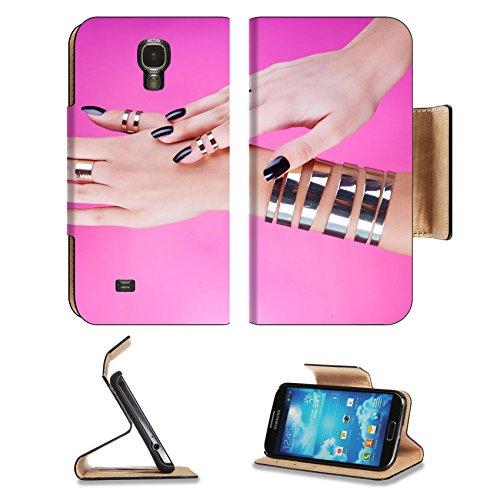 msd-premium-samsung-galaxy-s4-flip-pu-leather-wallet-case-woman-with-black-manicure-wearing-gold-bra