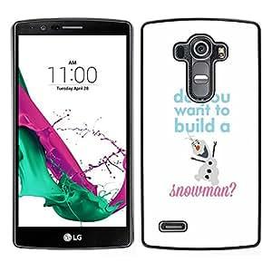 Caucho caso de Shell duro de la cubierta de accesorios de protección BY RAYDREAMMM - LG G4 - Invierno Texto Blanco Sudadera con niños