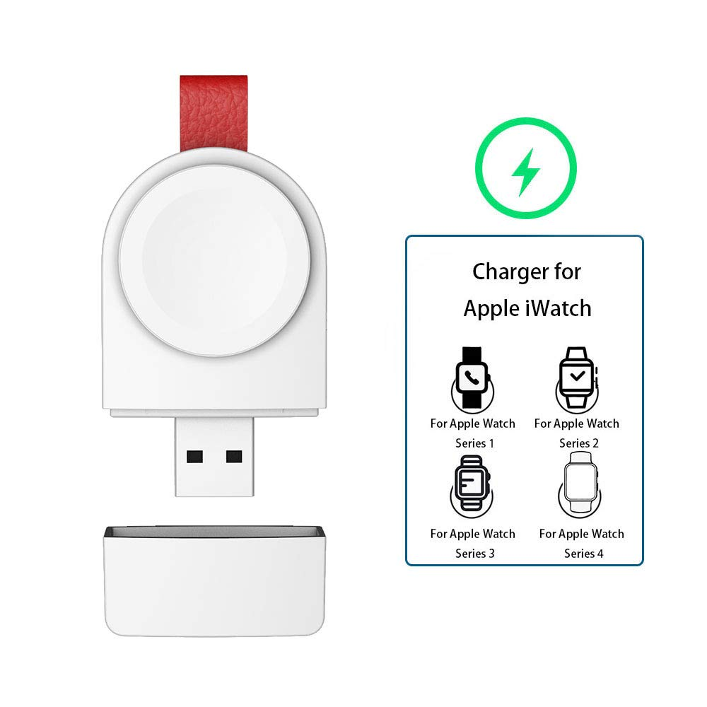 Watch Charger for Apple, Magnetic Portable Wireless iWatch Charger Compatible for Apple Watch Series 1 2 3 4 in 38mm 40mm 42mm 44mm by Asiane