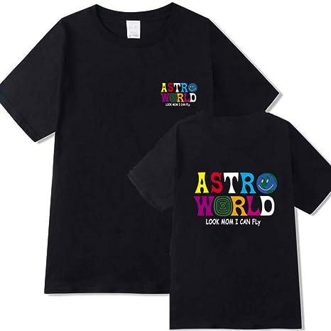 JJZHY T-Shirt con Scollo Tondo Manica Corta da Uomo e Donna Travis Scott AstroWorld