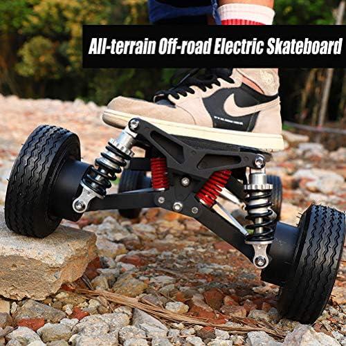 LXJ-LD Skateboard Électrique Tout Terrain, Suspension Indépendante Aux 4 Roues, Vitesse Maximale De 45km/h, Plage De Croisière De 50km, avec Télécommande sans Fil 2,4 G