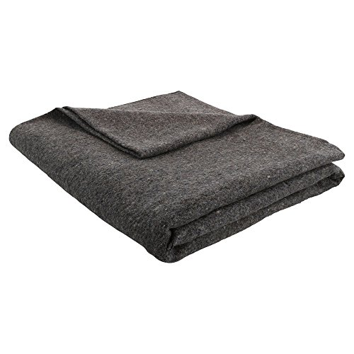 (JMR Grey 62x80 Wool Blanket )