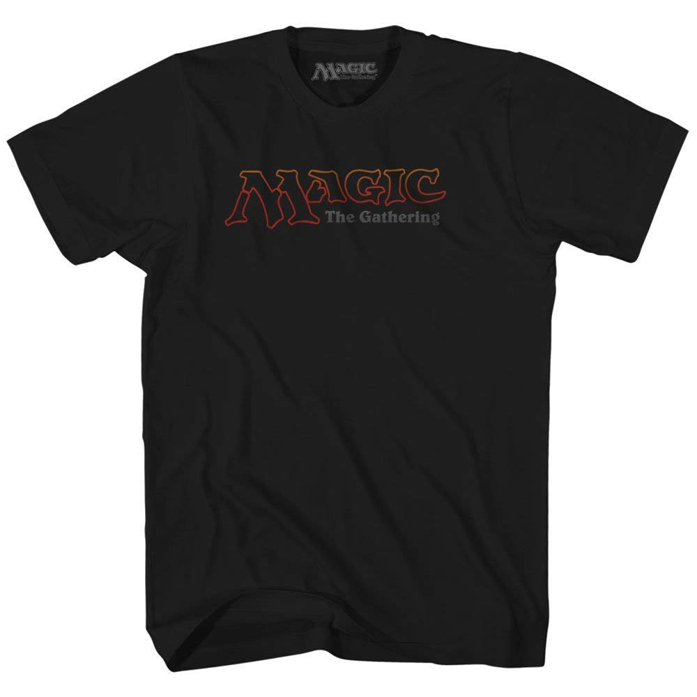 Magic the Gathering Logo Gamer Roll Playing Card Game Fantasy Wizards Mens Adult Tee Graphic T-shirt (3XL)