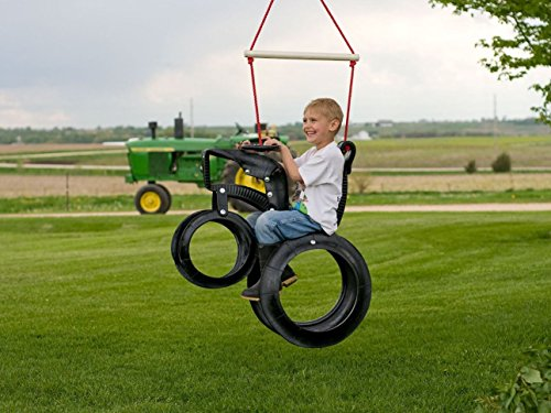 Tractor Recycled Tire Tree Swing (Tire Horse)