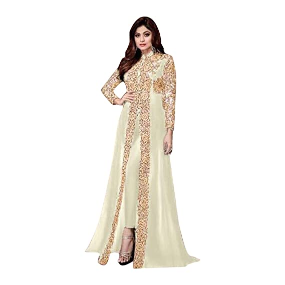 ETHNIC EMPORIUM White Traje anarakali de Bollywood Salwar ...