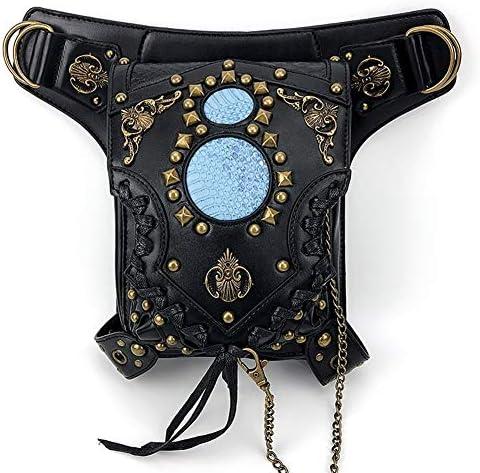 爆発マイコドリ科多機能ショルダーVirguleパッケージのチェーンバッグパンクポケット 実用的 (色 : Black)