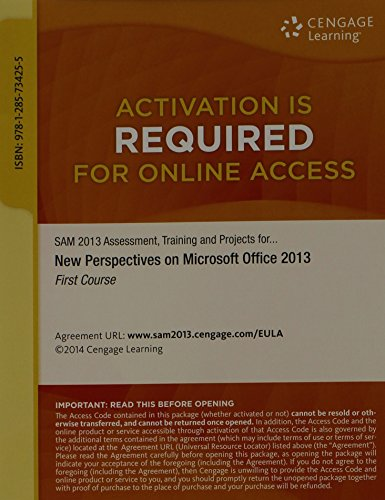 Training, and Projects with MindTap Reader, 1 term (6 months) Printed Access Card for Shaffer/Carey/Parsons/Oja/Finnegan's New Perspectives on Microsoft Office 2013, First Course ()