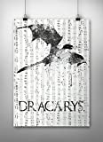 Dracarys, GoT Wall Decor, Game of thrones Print, Asoiaf, Music sheet print,Game of thrones Quote, House Targaryen, dragon, A3 size (297mm x 420mm / 11.69 x 16.53 inches)