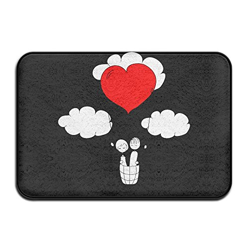 Doormats Valentines Day I Steal Hearts Fashion\r\n Welcome Mat Pattern Decorative Bathroom Bedroom 15.7