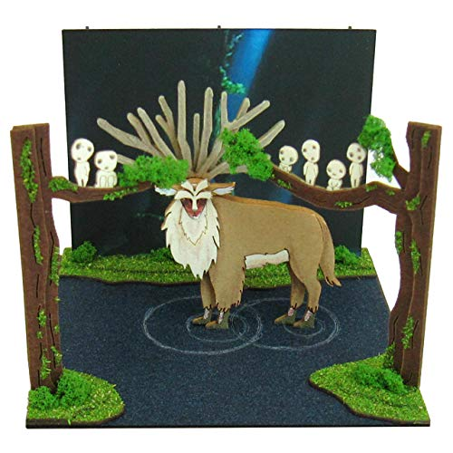 Mini Princess Mononoke Hime God Sankei Studio Ghibli forest scale papercraft MP07-43
