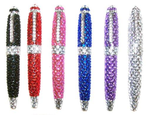 Inkology Glam Rocks Rhinestone Pen, Single Pen, Assorted Colors (540-7) Rhinestone Pen