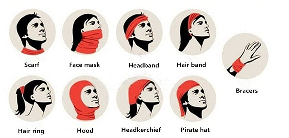 SHINA 9pcs New Scarf Skull Half Face Motorcycle Headwear Scary Horror Men Halloween Mask