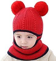 Kacota Kids Winter Hats Scarf Earflap Mask Cap Plush Skull Beanie for Boys Girls, 1-5 Years
