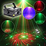 SUNY Mini Portable Stage Laser Light, 3 Lens 40 RG Color Patterns with Blue LED, Sound Activated Remote-control, Decoration for Party, DJs, Disco, Clubs, Bars, Holiday, X'mas(Z40RG)