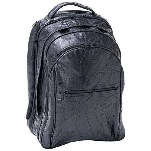 Embassy 18 in. Italian Stone Design Genuine Leather Laptop Backpack