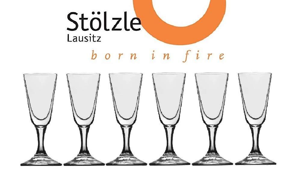 Stölzle Lausitz Crystal Cordial Liquor Shot Glasses, 1 Ounce, 4'' Tall, Set of 6
