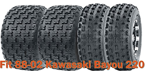Full Set Sport ATV tires 21x8-9 & 22x10-10 for 88-02 Kawasaki Bayou 220 by Wanda