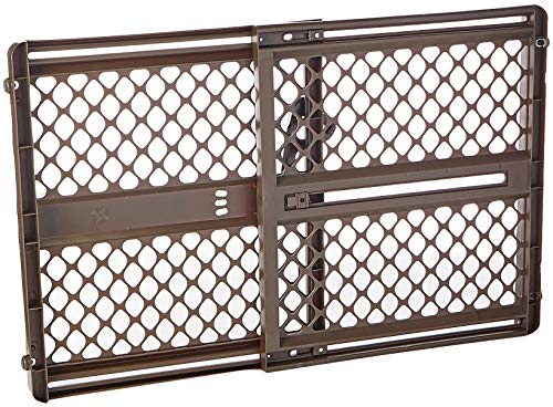 "North States 42"" Wide Supergate Ergo Baby Gate: Includes sockets for Extra Holding Power. Hardware or Pressure Mount. Fits 26""-42"" Wide (26"" Tall, Espresso)"