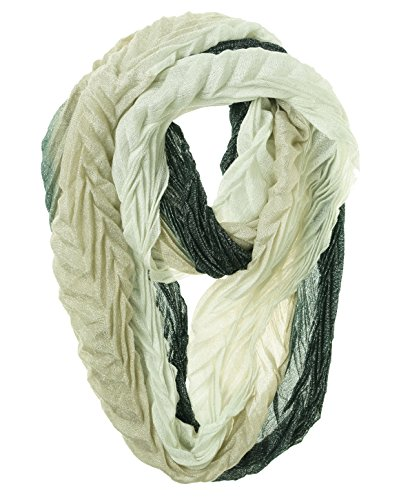 UPC 888472123249, Collection 18 Crinkle Ombre Loop Scarf Black/White