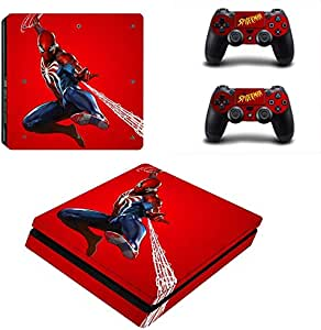 Marvel Spider-Man Ps4 Slim Stickers Vinyl Decal Skin Cover Spiderman Sticker For Ps4 Slim Console And Two Controller Skin: Amazon.es: Bricolaje y herramientas