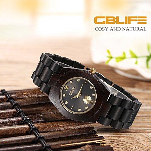 GBlife-Women-Wooden-Watch-Lightweight-Handmade-Retro-Casual-Quartz-Watch