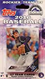Colorado Rockies 2016 Topps Factory Sealed Special Edition 17 Card Team Set with Carlos Gonzalez Plus