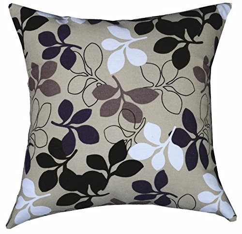 Multi-sized Both Sides Sketch Leaves Printed Cushion Cover LivebyCare Linen Cotton Throw Pillow ...