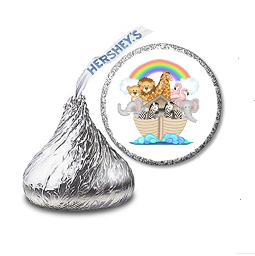 216 Noah's Ark Baby Shower Labels/Stickers for Hershey's Kisses Candies - Party Favors by JS&B Enterprises ()