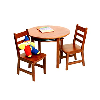 Lipper International 524C Childu0027s Round Table with Shelf and 2 Chairs Cherry Finish  sc 1 st  Amazon.com & Amazon.com: Lipper International 524C Childu0027s Round Table with Shelf ...